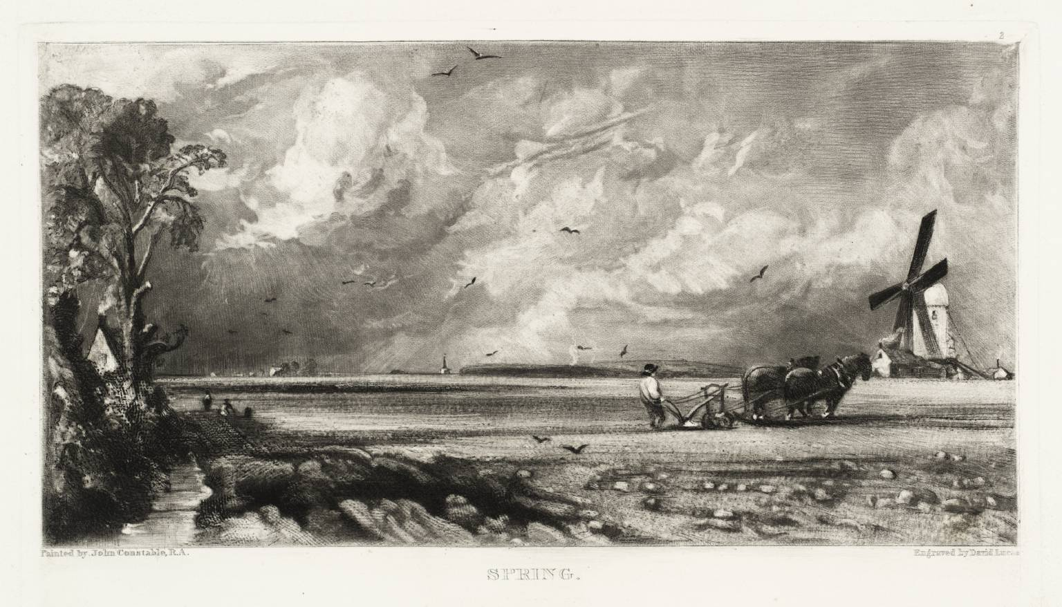 Spring published 1855 by John Constable and David Lucas 1776-1837, 1802-1881